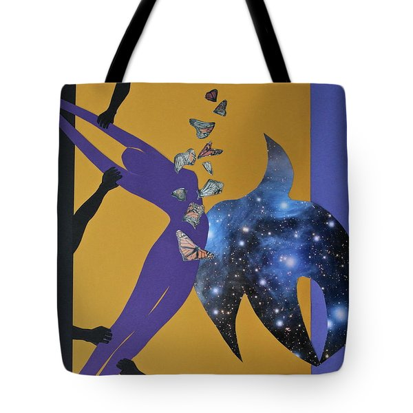 Tote Bag featuring the mixed media I Know Why The Caged Bird Sings by Michele Myers