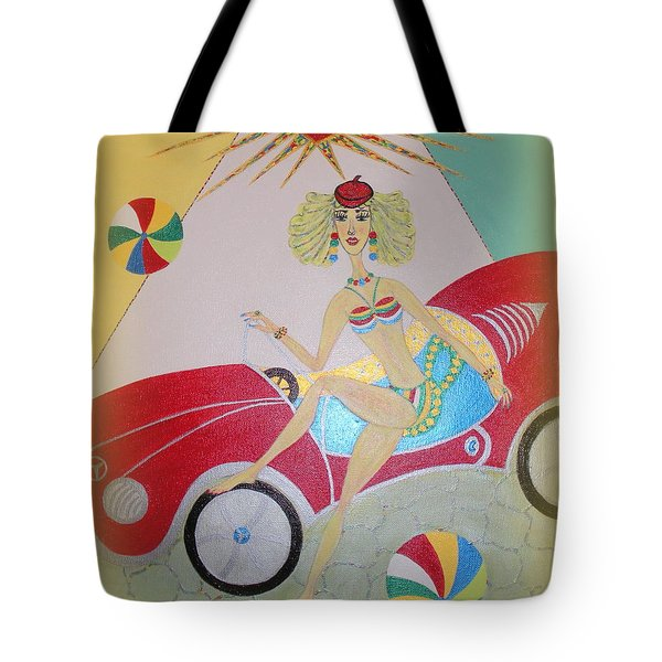 Tote Bag featuring the painting I Lost My Balls by Marie Schwarzer