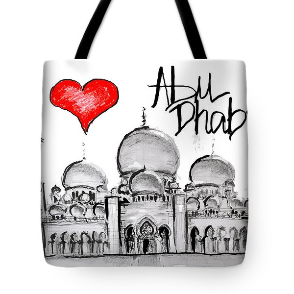 I Love Abu Dhabi Tote Bag by Sladjana Lazarevic