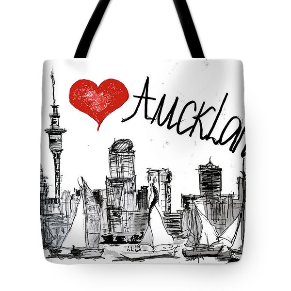 I Love Auckland  Tote Bag by Sladjana Lazarevic
