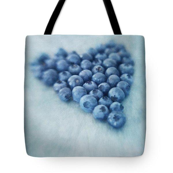 I Love Blueberries Tote Bag