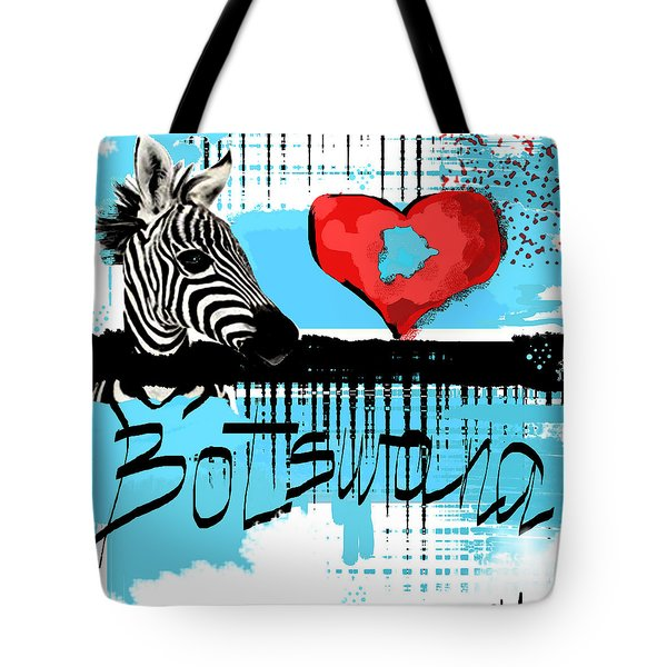 I Love Botswana  Tote Bag by Sladjana Lazarevic