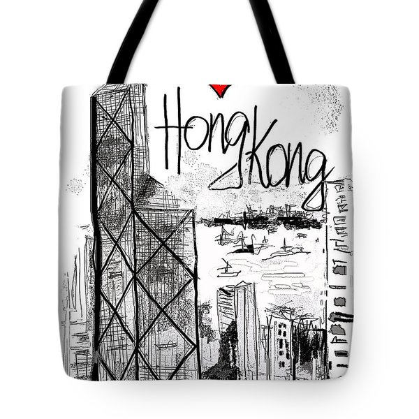 I Love Hong Kong  Tote Bag by Sladjana Lazarevic