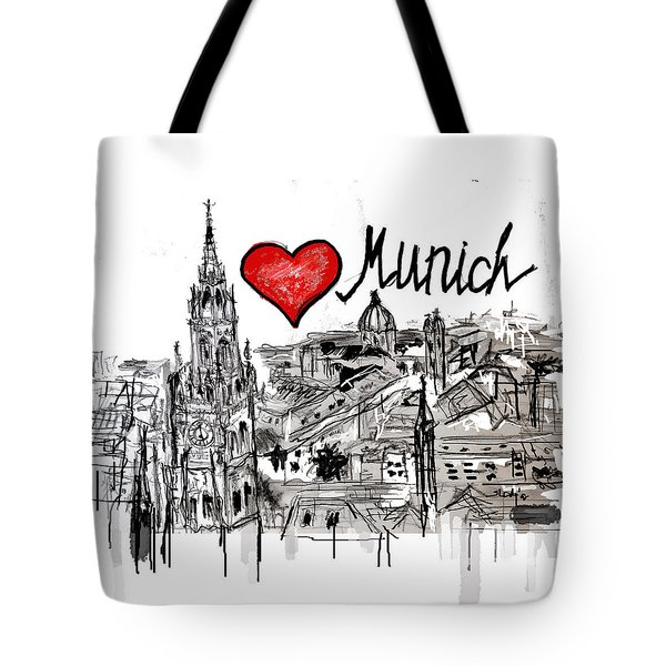 I Love Munich Tote Bag by Sladjana Lazarevic