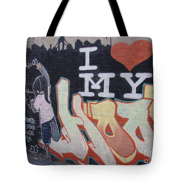 I Love My Hood Tote Bag by Cole Thompson
