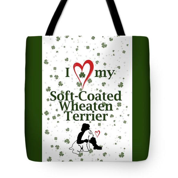 I Love My Wheaten Terrier Tote Bag