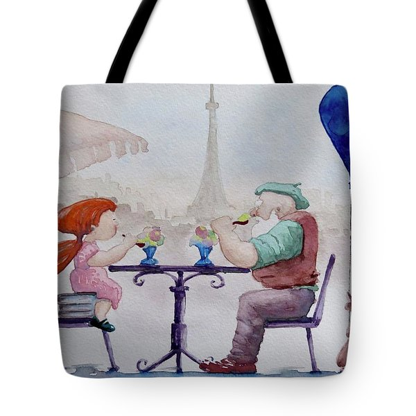 I Love Paris Grandpa Tote Bag