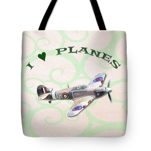 I Love Planes - Hurricane Tote Bag