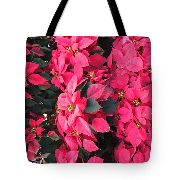 Tote Bag featuring the photograph I Love Poinsettias by Kay Gilley