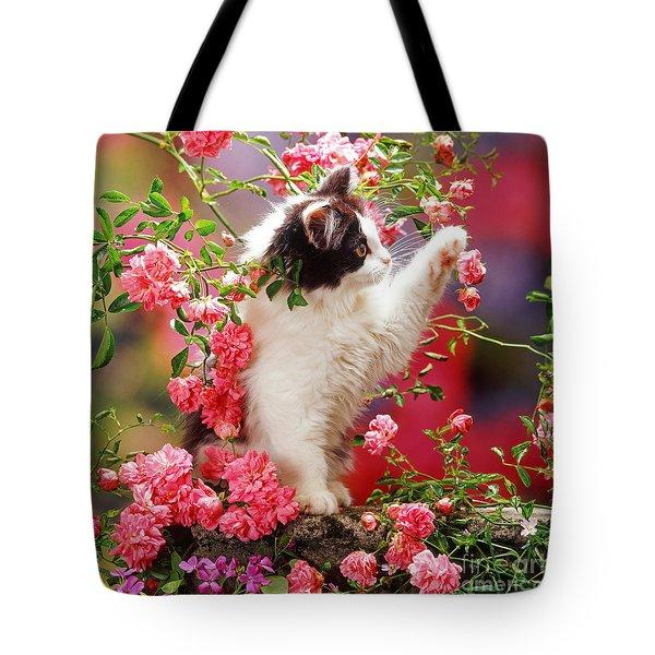 I Love Roses Tote Bag