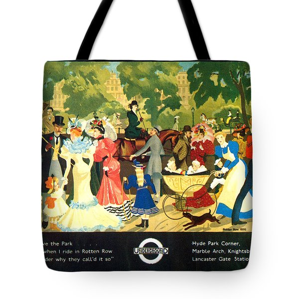 I Love The Park - London Underground, London Metro, Suburban - Retro Travel Poster Tote Bag