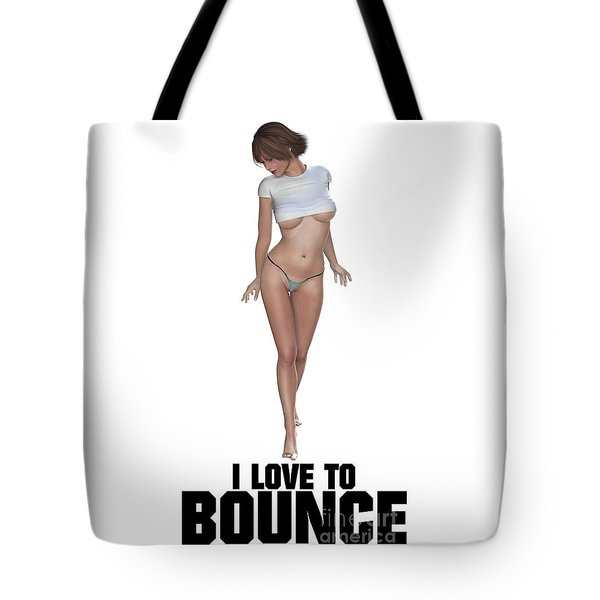 I Love To Bounce Tote Bag