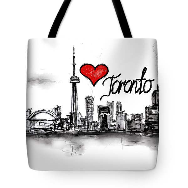 I Love Toronto Tote Bag by Sladjana Lazarevic