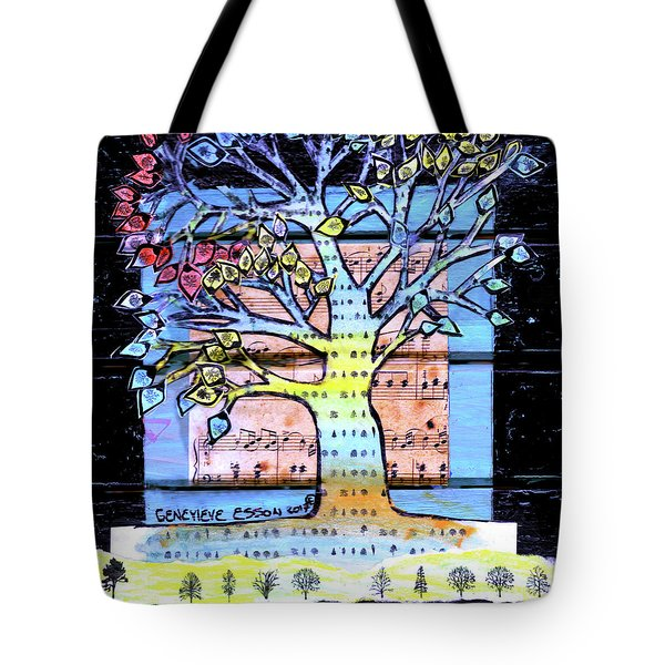 Tote Bag featuring the painting I Love Trees by Genevieve Esson