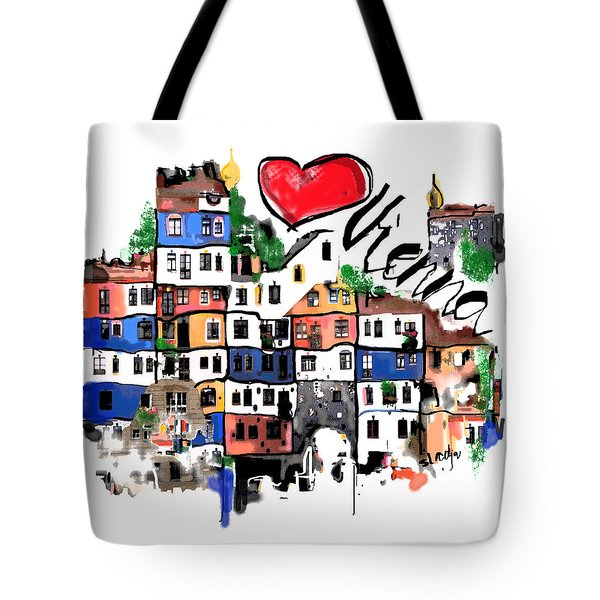 I Love Vienna  Tote Bag by Sladjana Lazarevic
