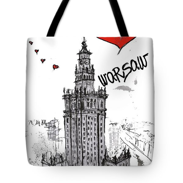 I Love Warsaw Tote Bag by Sladjana Lazarevic