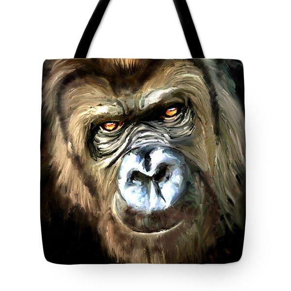 Gorilla Portrait Tote Bag by James Shepherd