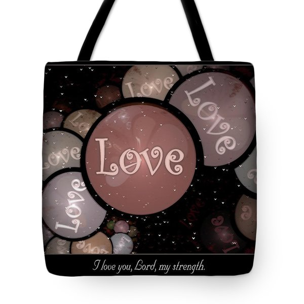 Tote Bag featuring the digital art I Love You by Missy Gainer