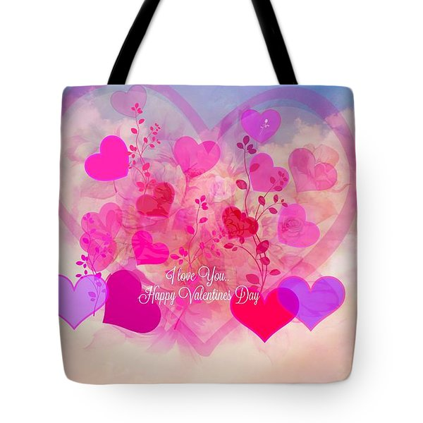 I Love You..happy Valentines Day Tote Bag