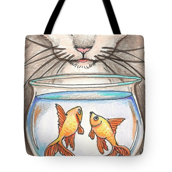 I Loves Fishes Tote Bag by Amy S Turner