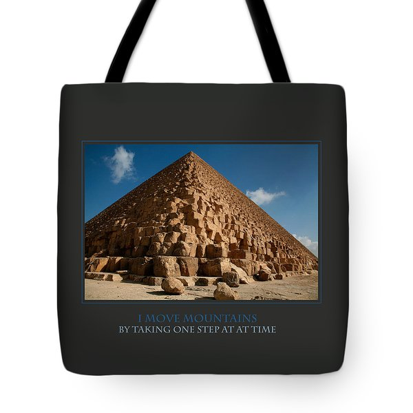 I Move Mountains Tote Bag by Donna Corless