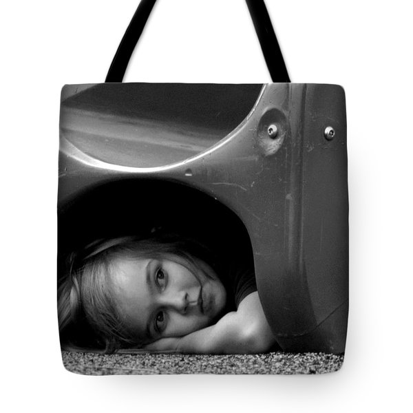 I Need A Playmate Tote Bag by Chris Mercer