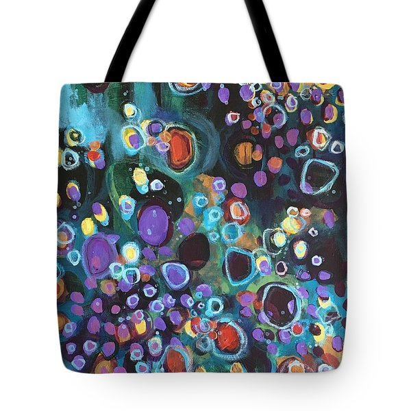 Tote Bag featuring the painting I Need An Answer Please by Laurie Maves ART