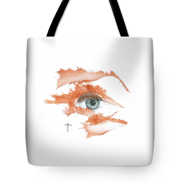 Tote Bag featuring the drawing I O'thy Self by James Lanigan Thompson MFA