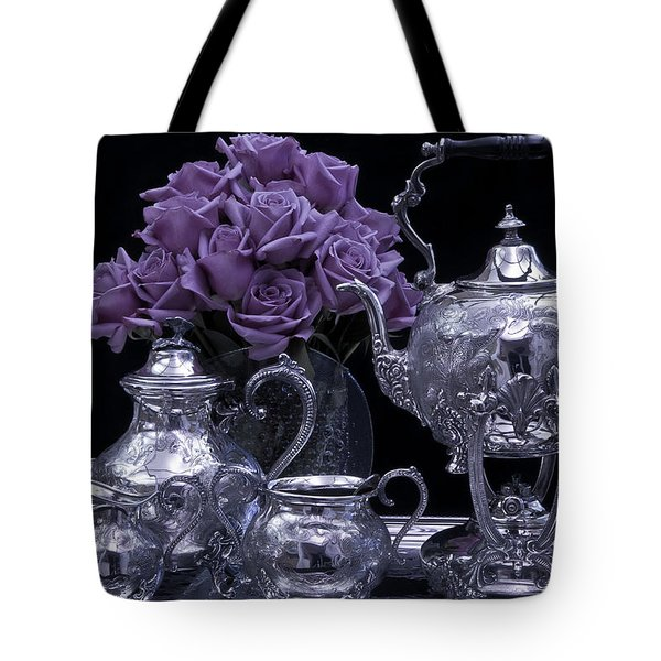 I Polished My Silver For You Tote Bag by Sandra Foster