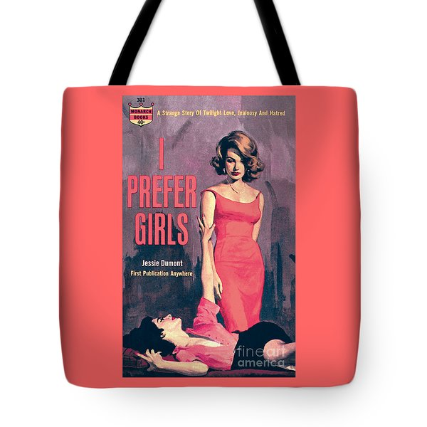 Tote Bag featuring the painting I Prefer Girls by Robert Maguire
