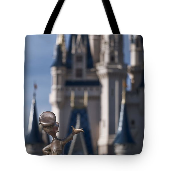 I Present You Cinderella's Castle Tote Bag by Eduard Moldoveanu