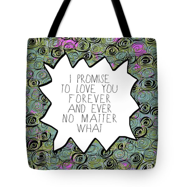 Tote Bag featuring the painting I Promise by Lisa Weedn