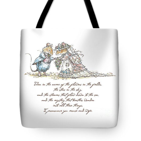I Pronounce You Mouse And Wife Tote Bag