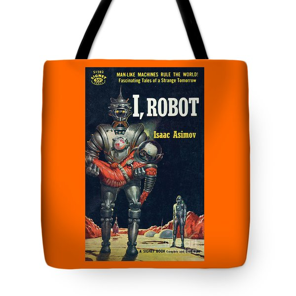 Tote Bag featuring the painting I, Robot by Robert Schulz