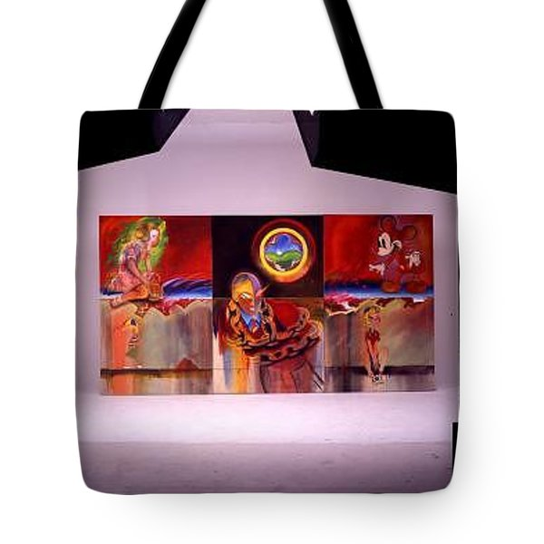 Tote Bag featuring the painting I Saw The Figure Five In Gold by Charles Stuart