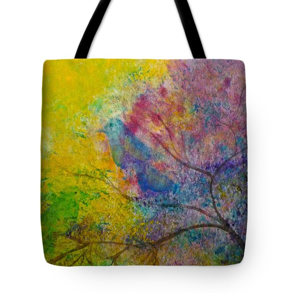 Tote Bag featuring the painting I See Birds by Claire Bull