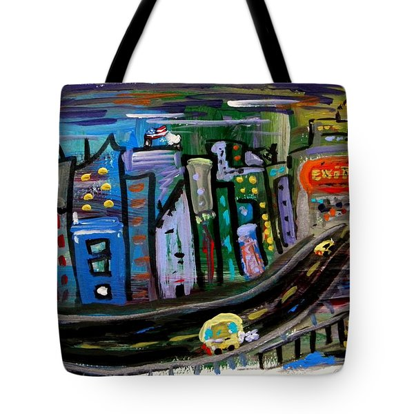 Tote Bag featuring the painting I See My Destination by Mary Carol Williams