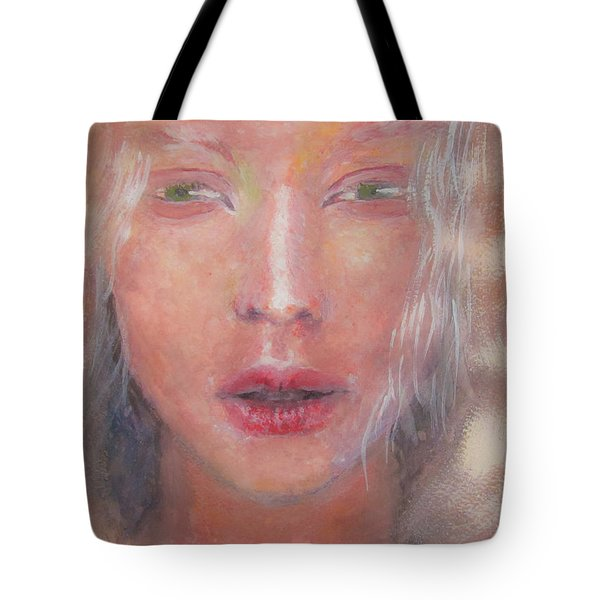 Tote Bag featuring the painting I See The Light by Jarko Aka Lui Grande