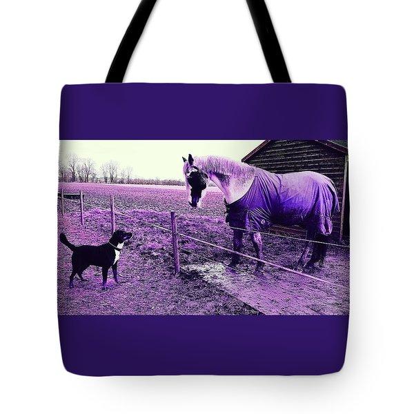 I See You In Violet Tote Bag