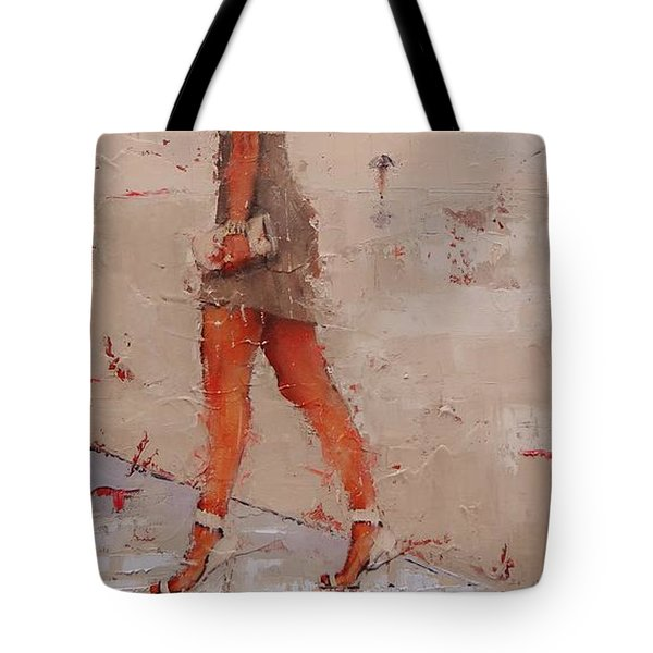 Tote Bag featuring the painting I See You by Laura Lee Zanghetti