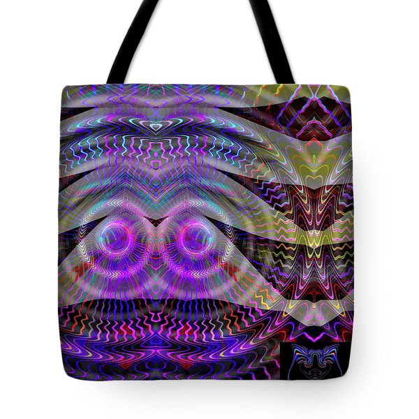 Tote Bag featuring the digital art I See You by Visual Artist Frank Bonilla