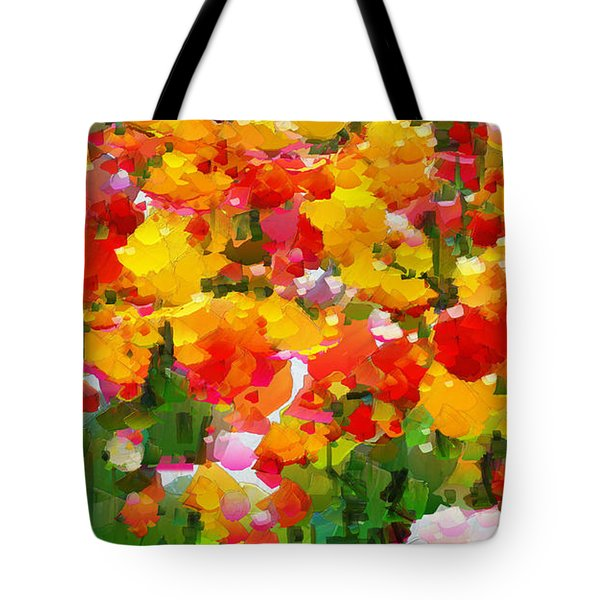 I Send You Flowers Every Day - The Garden Of Sweden Tote Bag