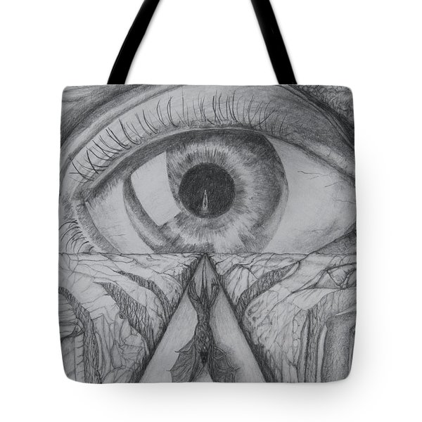 Tote Bag featuring the drawing I Shadow by Charles Bates