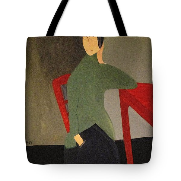 Tote Bag featuring the painting I Simply Refuse To Listen by Bill OConnor