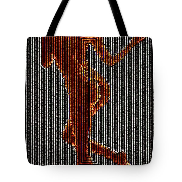 Tote Bag featuring the digital art I Stand Behind My Words by Rafael Salazar