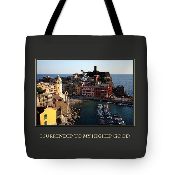I Surrender To My Higher Good Tote Bag by Donna Corless