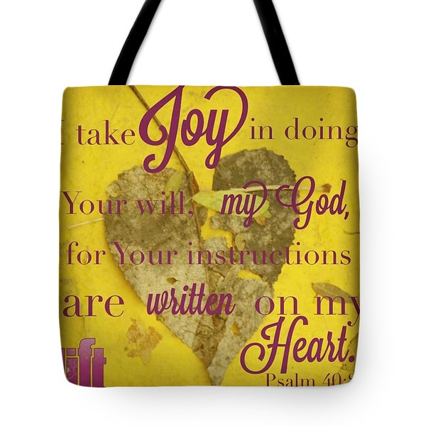 I Waited Patiently For The Lord To Help Tote Bag