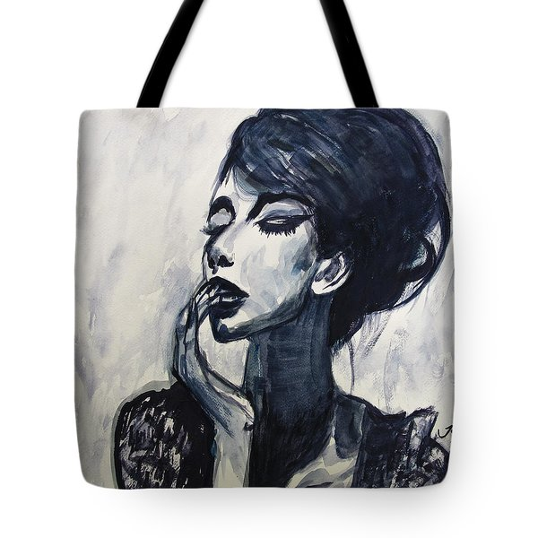 Tote Bag featuring the painting I Walk In The Clouds by Jarko Aka Lui Grande