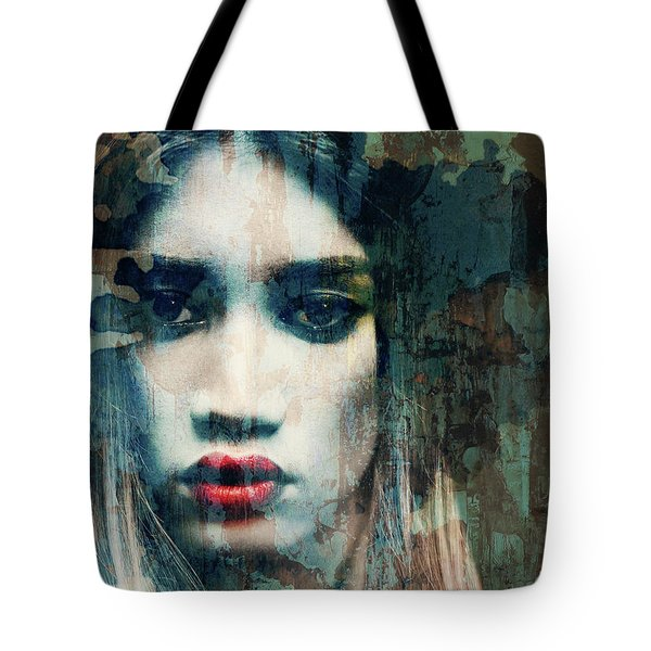 Tote Bag featuring the mixed media I Want To Know What Love Is  by Paul Lovering