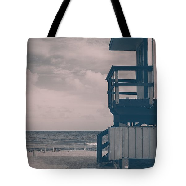 Tote Bag featuring the photograph I Was Checkin' On The Surfin' Scene by Yvette Van Teeffelen